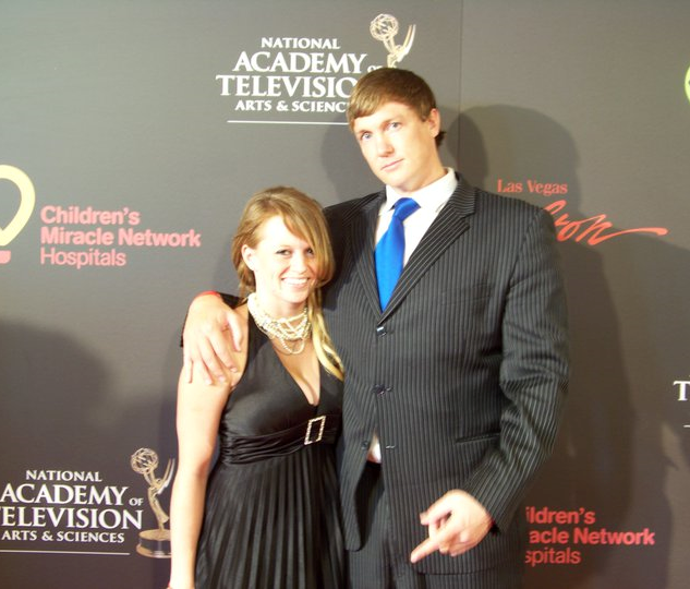 Michael Darby & Smile making a apperance at the Emmys.