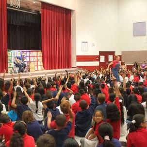 Michael Darby & Smile performing at a elementary school in Salt Lake City, UT.
