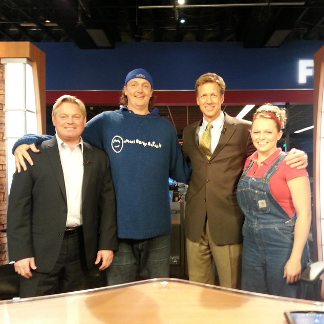 AFTER OUR TV APPEARANCE ON FOX TELEVISION WE GOT OUR PIC TAKEN WITH THE AMAZING HOSTS OF GOOD DAY UTAH!