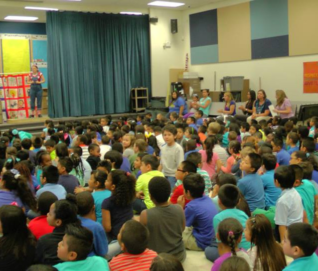 Michael Darby & Smile performing at Lake Elementary School.