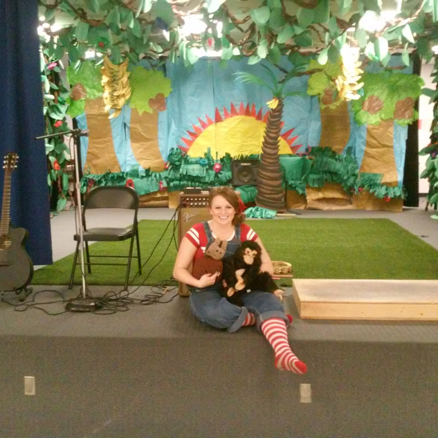 Getting ready to perform for Doris Reed Elementary School Las Vegas, NV.