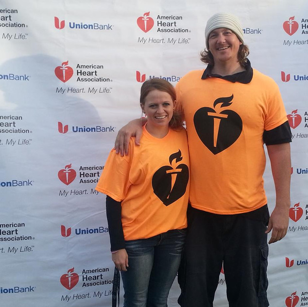 Michael Darby and Smile participating at the American Heart Association at Long Beach, CA.