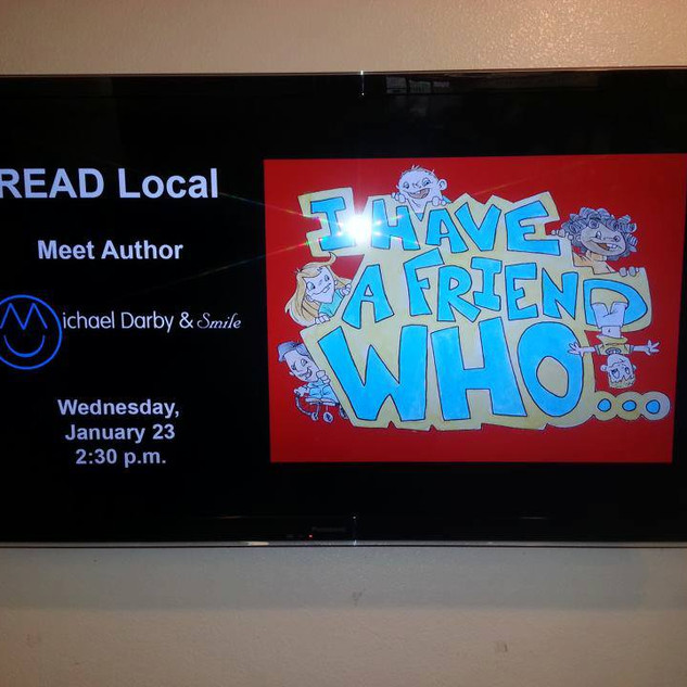 """Book signing for Michael Darby and Smile children's book """"I Have a Friend Who..."""""""