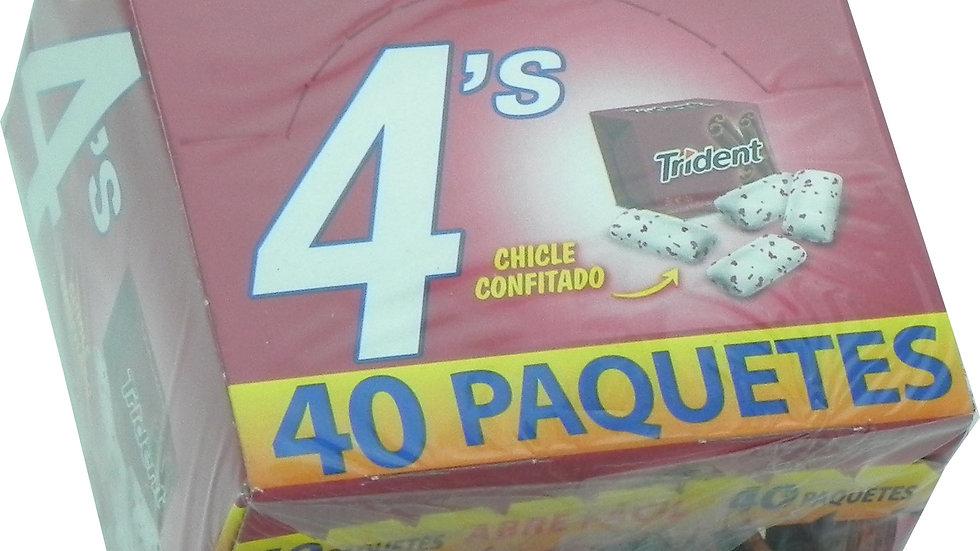 TRIDENT 4s CANELA 40 UNID