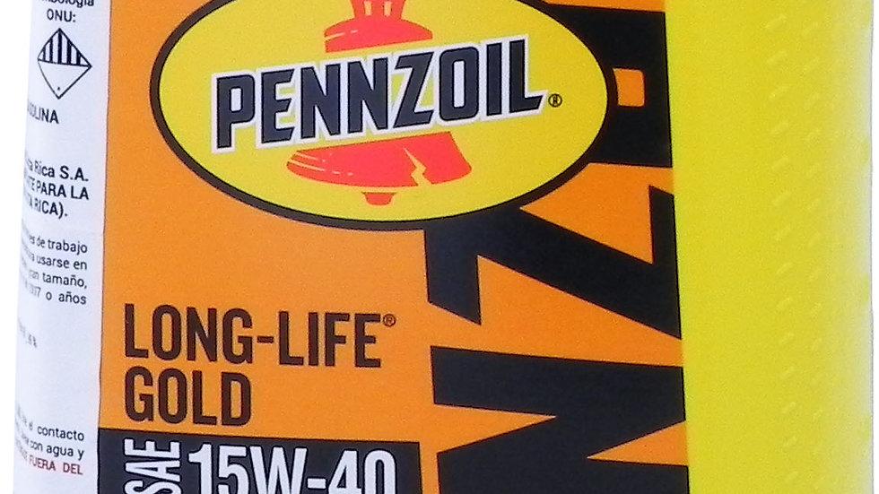 PENZOIL ACEITE LONG LIGE GOLD 15W40 QT