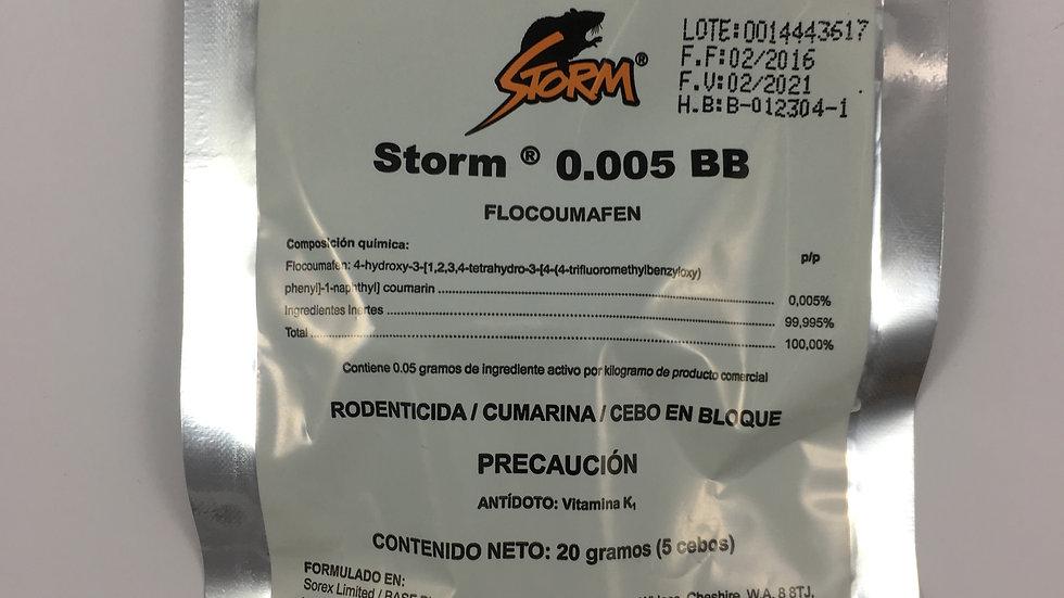 STORM RODENTICIDA 60 GR 15 CEBOS