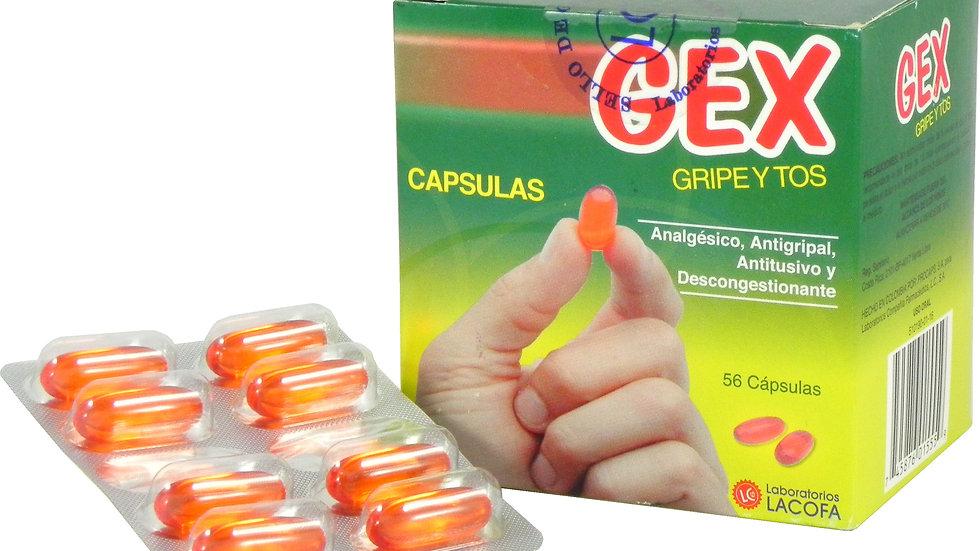 GEX GRIPE Y TOS LIQ GEL 56 CAPS