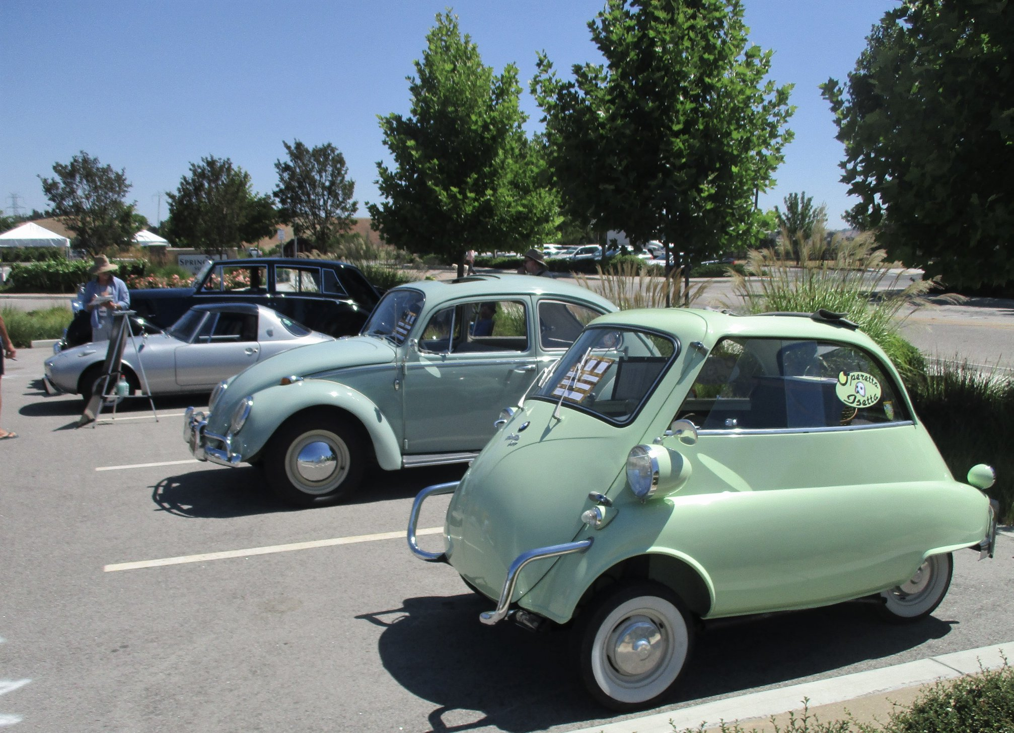 A Car Show - Isetta and Bug