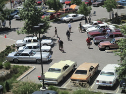 A Car Show - from Above