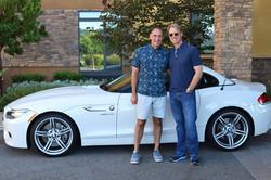 Chris and Rob with BMW