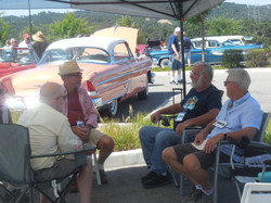 A Car Show - finding shade