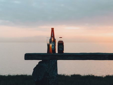 Corona Render Free Tutorial Lesson - Beer In Sunset