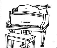 Grand Piano Drawing - Sharon Glick.tif