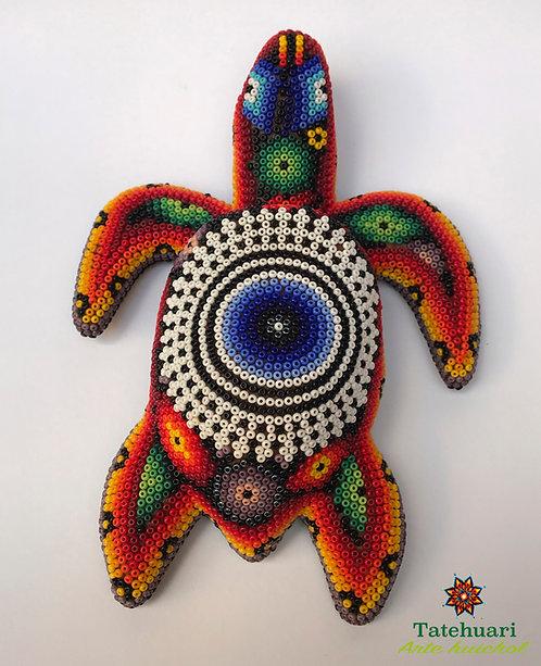 Arte huichol - Tortuga Forrada Con Chaquira