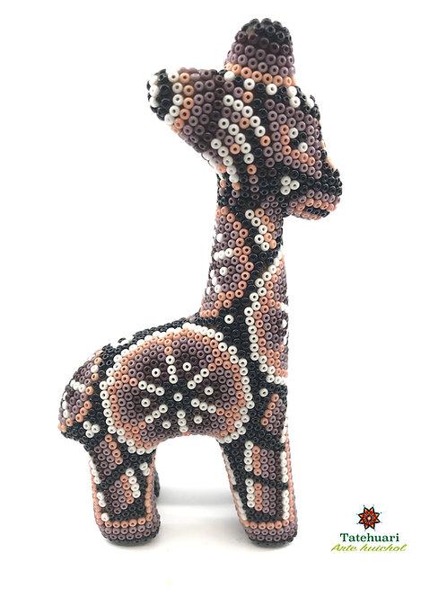 Jirafa de Chaquira - Arte huichol