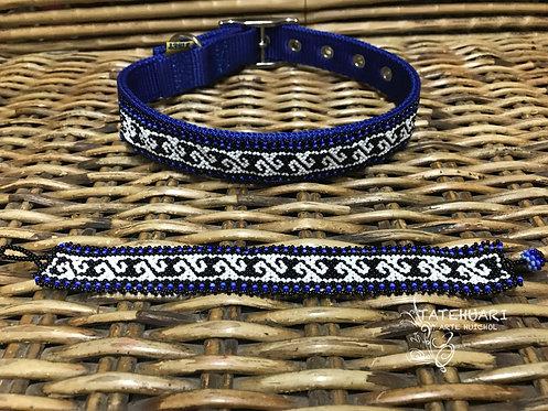 Collar De Chaquira Para Perros Huichol Raza Mediana