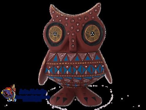 Wood Alebrije | Medium owl Coffee