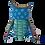 Thumbnail: Alebrije de Madera | Buho chico Azul Rey- Rosa