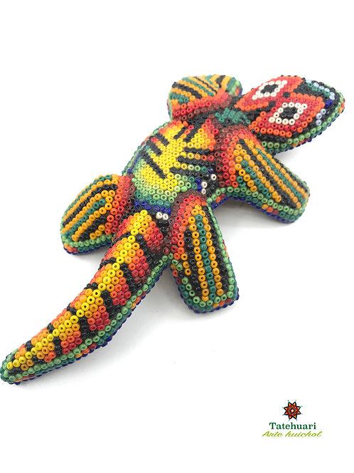 Iguana de Chaquira - Arte huichol
