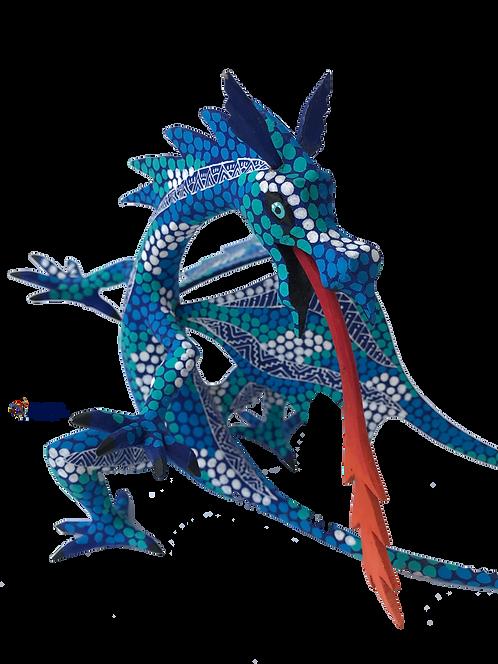 Alebrije de Madera | Dragón Azul