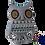 Thumbnail: Wooden Alebrije | Medium Size gray owl