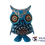 Thumbnail: Wooden Alebrije | Small Size Blue King-Black Owl
