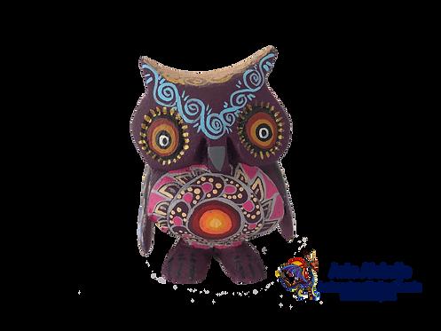 Alebrije de Madera | Buho chico Morado