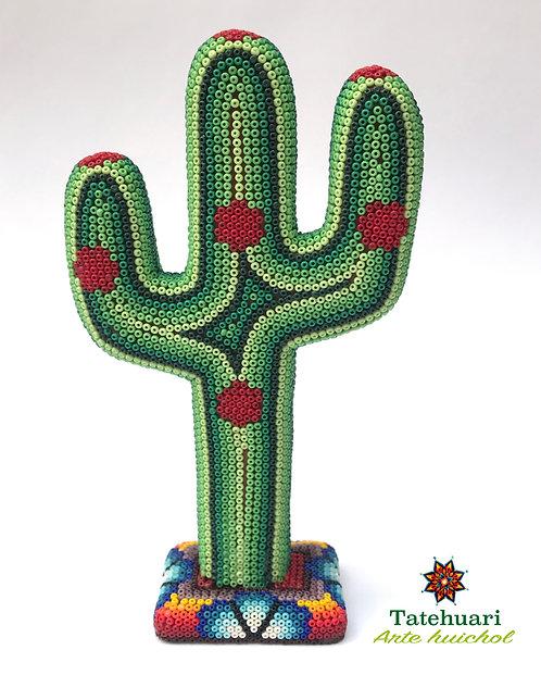 Arte huichol - Cactus Forrado de Chaquira Grande
