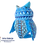 Thumbnail: Wood Alebrije | Medium owl Dark Blue