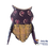 Thumbnail: Alebrije de Madera | Buho chico Morado