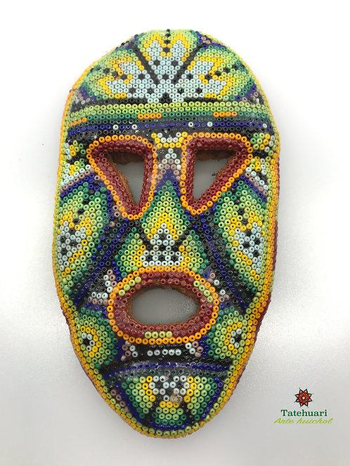 Máscara Forrada con Chaquira - Arte Huichol