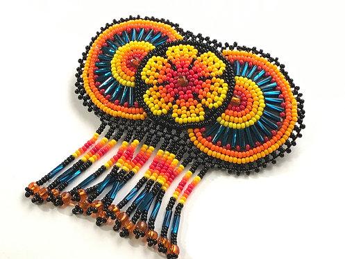 Chaquira brooch - Arte Huichol