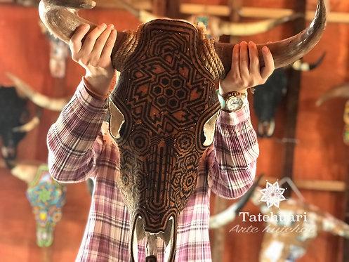 Calavera de Toro - Arte Huichol
