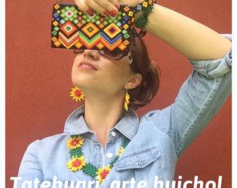 BOLSA ARTESANAL DE CHAQUIRA, ARTE HUICHOL