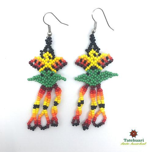 Aretes de Chaquira - Arte Huichol