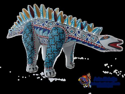 Wood Alebrije | Stegosaurus Dinosaur