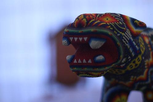 Jaguar de Chaquira - Arte Huichol