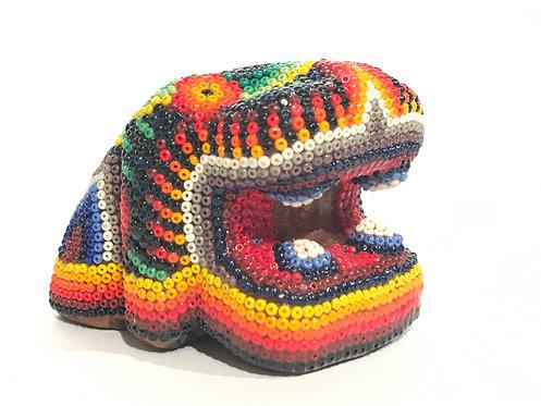 CABEZA DE JAGUAR 2 - Arte Huichol
