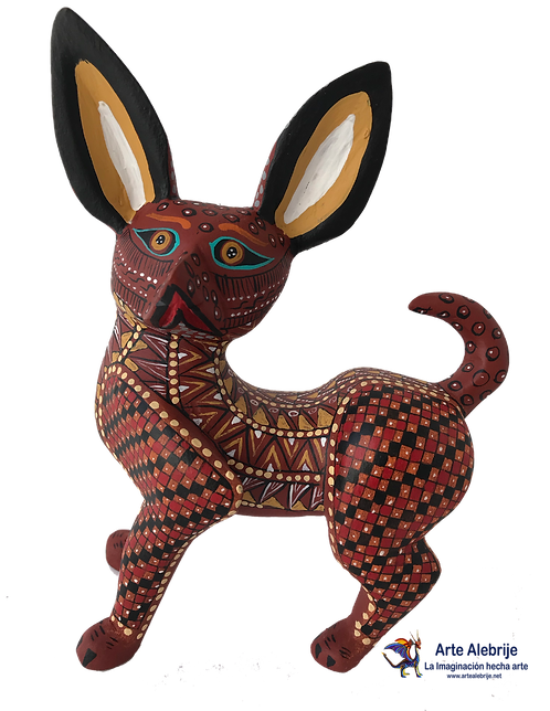 Wood Alebrije | Chihuahua Dog Coffee