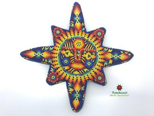 Sol Forrado Con Chaquira  - Arte Huichol
