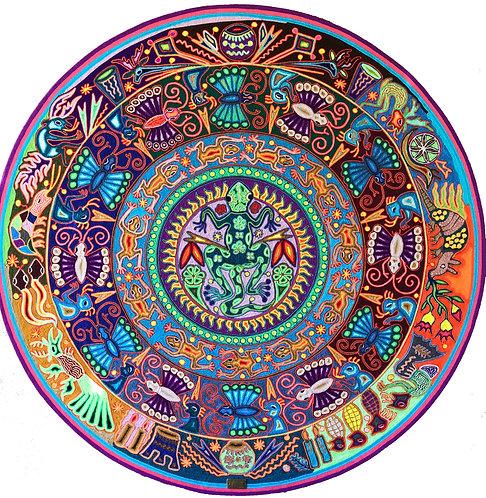 TABLA ESTAMBRE 120 X 120 - Arte huichol