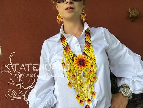 Collar de Chaquira - Artesanía Huichol