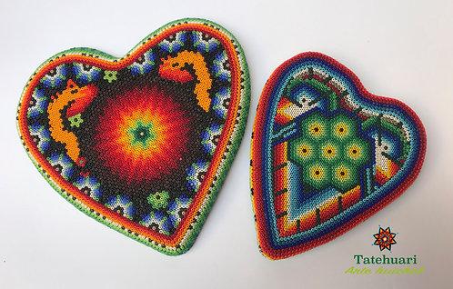 Arte huichol - Corazón de Chaquira Grande