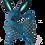 Thumbnail: Wood Alebrije | Blue Chihuahua Dog