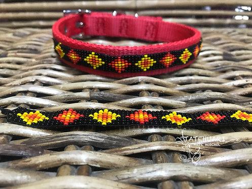 Collar De Chaquira Para Perros Huichol Raza Chica