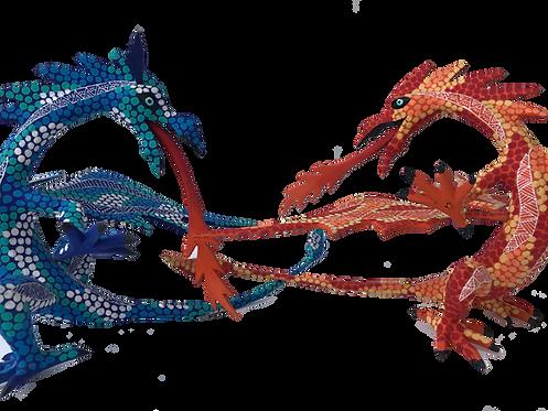 Alebrije de Madera | Dragón Naranja