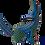 Thumbnail: Wood Alebrije   blue Wolf