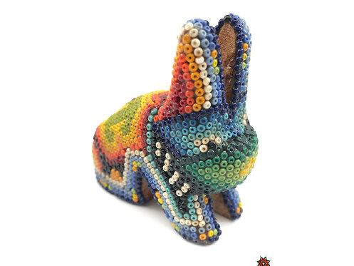 Conejo de Chaquira - Arte Huichol