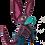 Thumbnail: Alebrije de Madera | xoloitzcuintle Mediano Rosa