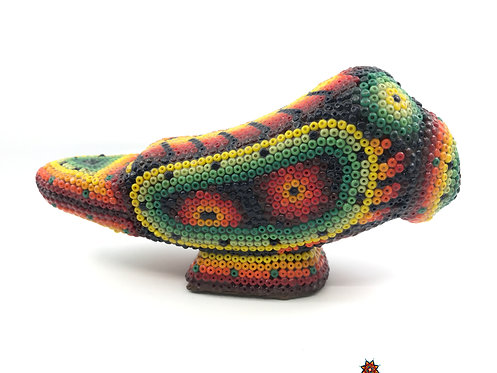 Perico Cotorro de chaquira - Arte Huichol